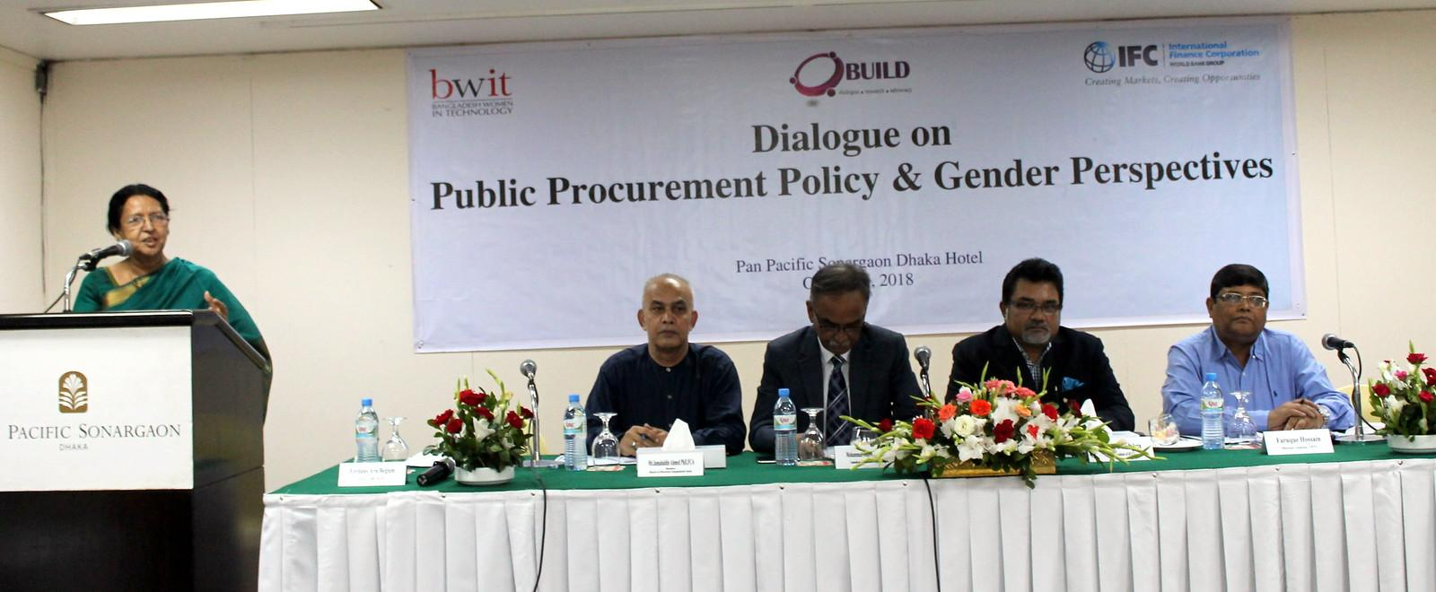 Public Procurement Policy and Gender Perspective Dialogue: BUILD and BWIT