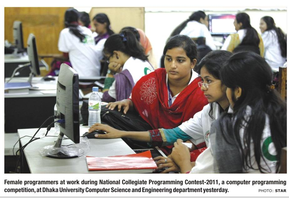 BWIT Sponsored all Girls Team at Programming Contest called National Collegiate Championship 3 and 4 June 2011