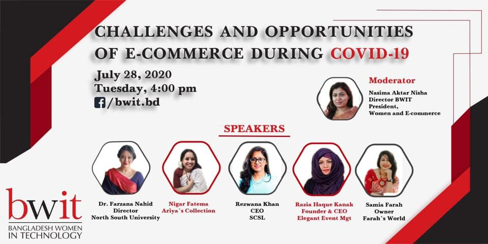 """Webinar on """"Challenges and Opportunities of E-commerce During COVID- 19"""""""