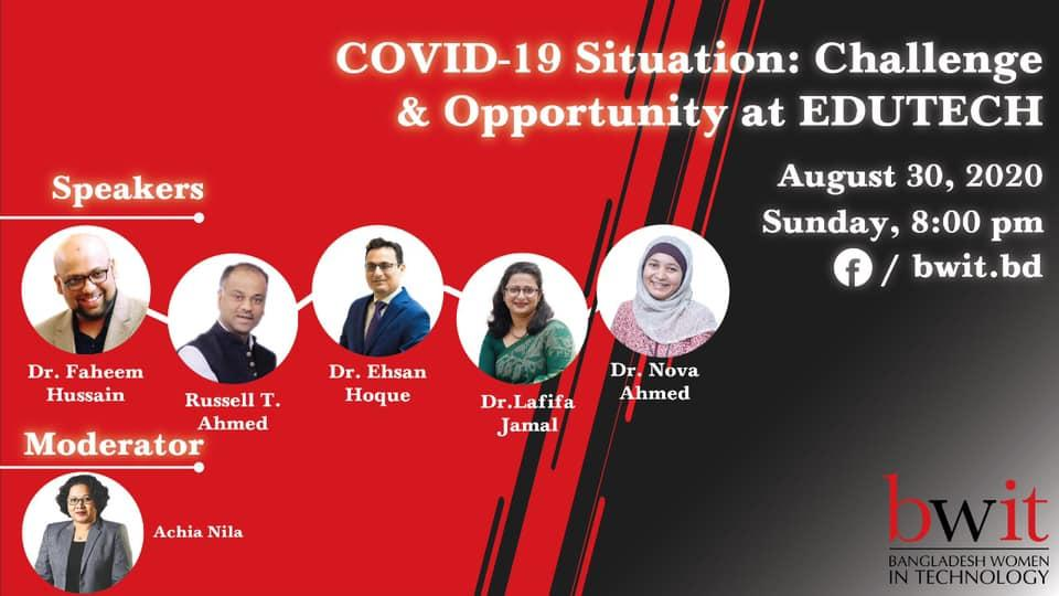 """Webinar on """"Covid-19 Situation: Challenge and Opportunity in EDUTECH"""""""