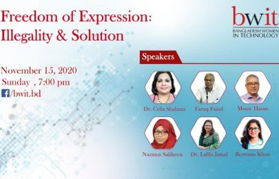 "Webinar on ""Freedom of Expression: Illegality & Solution"""