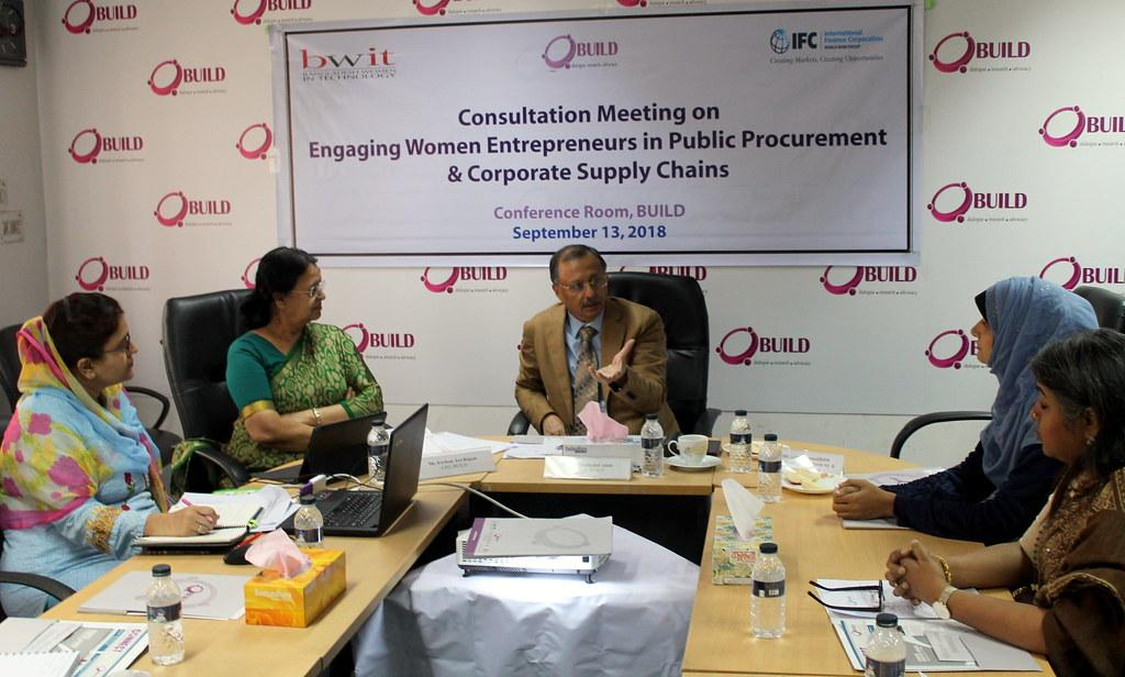 """Consultation Meeting on """"Engaging Women Entrepreneurs in Public Procurement & Corporate Supply Chain"""" held BWIT and BUILD"""