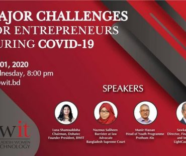 "Webinar on ""Major Challenges for Entrepreneurs during Covid-19"""