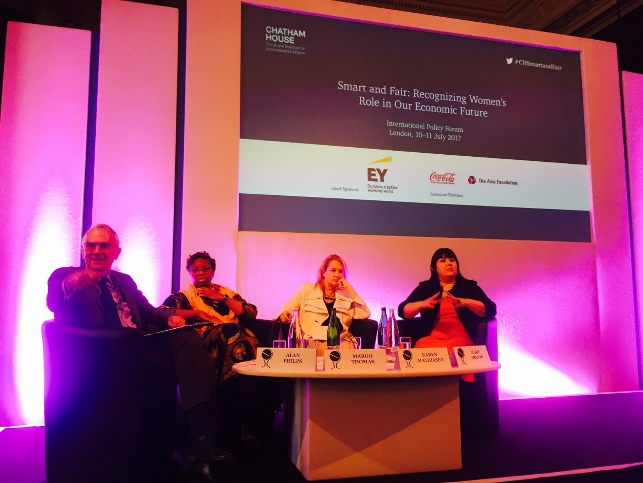 BWIT participated in SMART and FAIR- Recognizing Women's Role in Our Digital Future Chatham House International Policy Forum 10- 11 July 2017 Women in the digital economy
